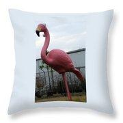 Santa Bird Throw Pillow