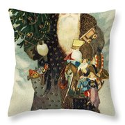 Santa Claus With Toys Throw Pillow