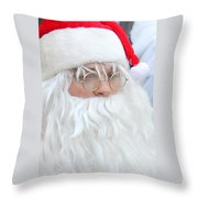 Santa In Bethlehem March For Peace And Unity Throw Pillow