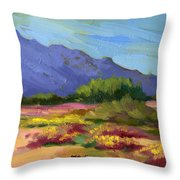 Santa Rosa Mountains In Spring Throw Pillow