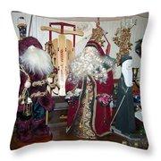 Santas Helpers Throw Pillow