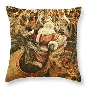 Santa's Vintage Memories Throw Pillow