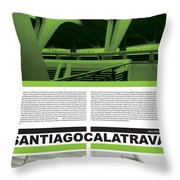 Santiago Calatrava Poster Throw Pillow