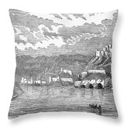 Santiago De Cuba, 1853 Throw Pillow