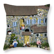 Santons. Provence Throw Pillow