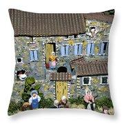 Santons. Provence Throw Pillow