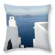 Santorini Steps Throw Pillow