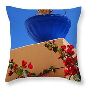 Santorini Vignette Throw Pillow