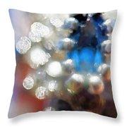 Saphire Sparkle Throw Pillow