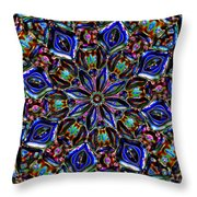 Sapphire Surprise Throw Pillow