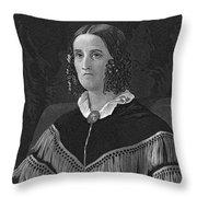 Sarah Childress Polk Throw Pillow by Granger