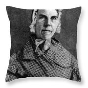 Sarah Moore Grimké, American Throw Pillow by Photo Researchers