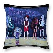 Sarah's Monster High Collection Throw Pillow