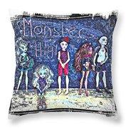 Sarah's Monster High Collection Sketch Throw Pillow