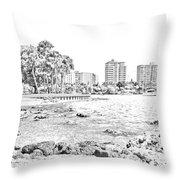 Sarasota Sketch Throw Pillow