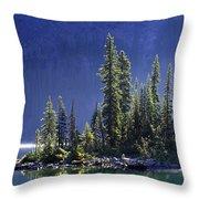 Sargents Point, Lake Ohara, Yoho Throw Pillow