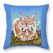Sassy Lynx Throw Pillow