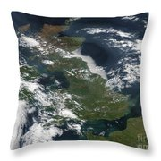 Satellite Image Of Smog Over The United Throw Pillow