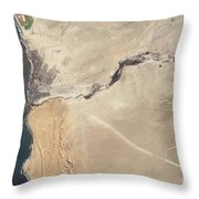 Satellite Image Of The Swakop River Throw Pillow