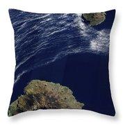 Satellite View Of The Prince Edward Throw Pillow