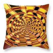 Satin Ribbons Abstract Throw Pillow