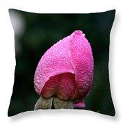 Satin Rosebud Throw Pillow