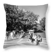 Saturday In The Park Throw Pillow