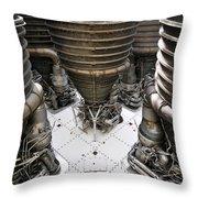 Saturn Five Throw Pillow
