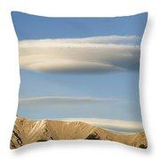 Saucer-shaped Cloud, Kootenay Plains Throw Pillow