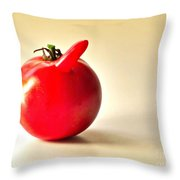 Saucy Tomato Throw Pillow