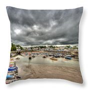 Saundersfoot Harbour Throw Pillow