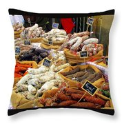 Sausages For Sale Throw Pillow