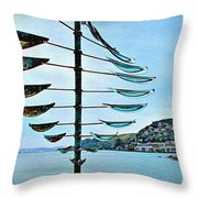 Sausalito Coast Throw Pillow