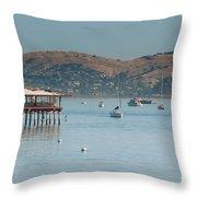 Sausalito Harbour Throw Pillow