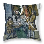 Savoyard Family, C1797 Throw Pillow