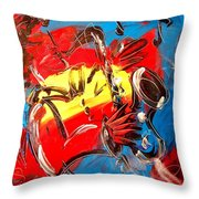 Sax Player Throw Pillow