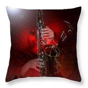 Sax World Throw Pillow