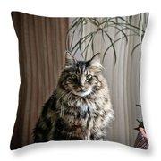 Say Meowww Throw Pillow