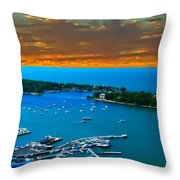 S.bass Is. Lake Erie Throw Pillow