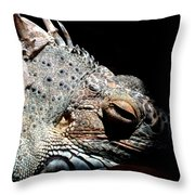 Scales And Spikes Throw Pillow