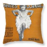 Scandals Songsheet, 1928 Throw Pillow