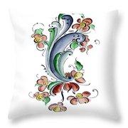 Scandinavian Flower I Throw Pillow