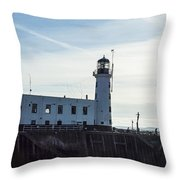 Scarborough Lighthouse Throw Pillow