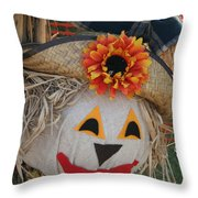 Scarecrow Annie Throw Pillow