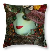 Scarecrow Bounty Throw Pillow