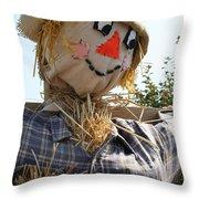 Scarecrow Farmer Throw Pillow