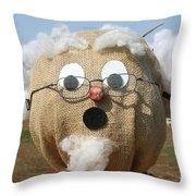 Scarecrow Gramps Throw Pillow