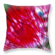 Scarlet Sabers Throw Pillow