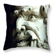 Scary Face Throw Pillow
