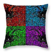 Scary Spider Serigraph Throw Pillow